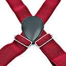 Підтяжки 0004PI Темно-червоні, фото 3