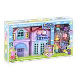 Игровой набор домик со звуком и светом свинка Пеппа 4 комнаты 8 фигурок, РР 612А, фото 2