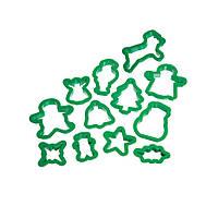 Формочки для печенья KitchenCraft Lets Make Рождество 12 шт Зеленый (148582)