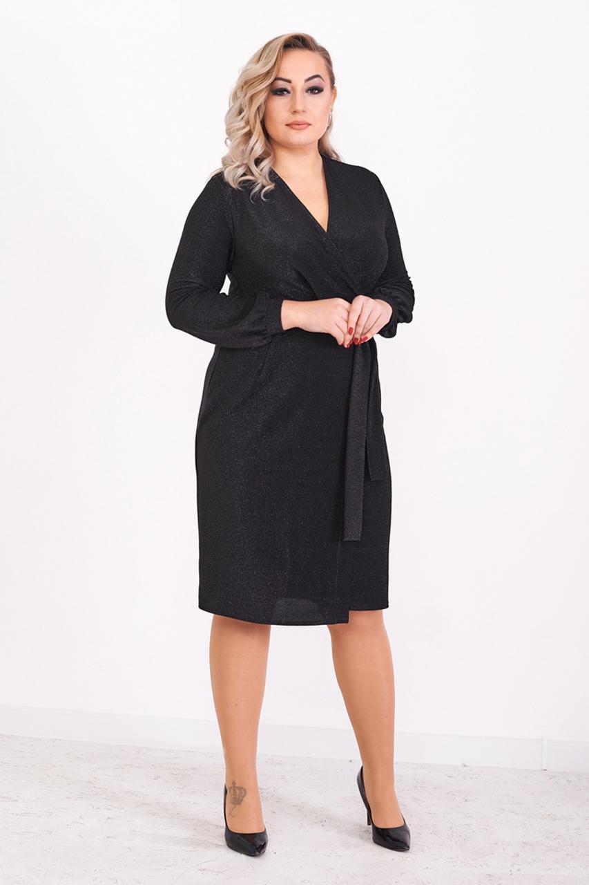 Красивое вечернее платье с люрексом 48,50,52,54 размер