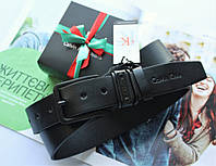 Ремень с черной пряжкой Calvin Klein черный