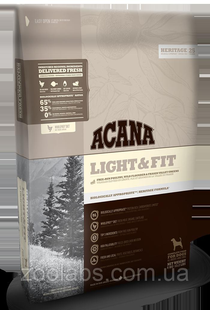 Корм Acana для собак с избыточным весом | Acana Light & Fit Heritage 6,0 кг