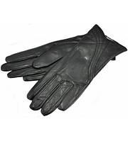 Женские перчатки изгиб черные