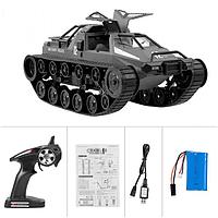Модель танка для дрифта военной полиции 12км / ч Высокоскоростной танк RTR RTR для детей - черный
