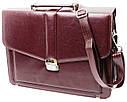 Діловий портфель зі штучної шкіри AMO Бордовий (SST11 bordo), фото 3