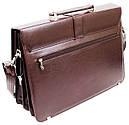 Діловий портфель зі штучної шкіри AMO Бордовий (SST11 bordo), фото 4