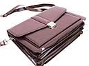 Діловий портфель зі штучної шкіри AMO Бордовий (SST11 bordo), фото 5
