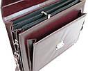 Діловий портфель зі штучної шкіри AMO Бордовий (SST11 bordo), фото 6