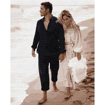 Картина по номерам Свидание на побережье. Никита Добрынин и Дарья Квиткова Идейка (KHO4750) 40 х 50 см
