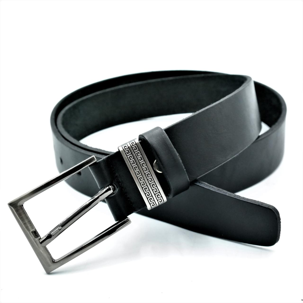 Кожаный ремень Le-Mon 110-125 см Черный (nw-rus-35k-005  )