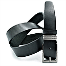 Шкіряний ремінь Le-Mon 110-125 см Чорний (nw-rus-35k-005 ), фото 2