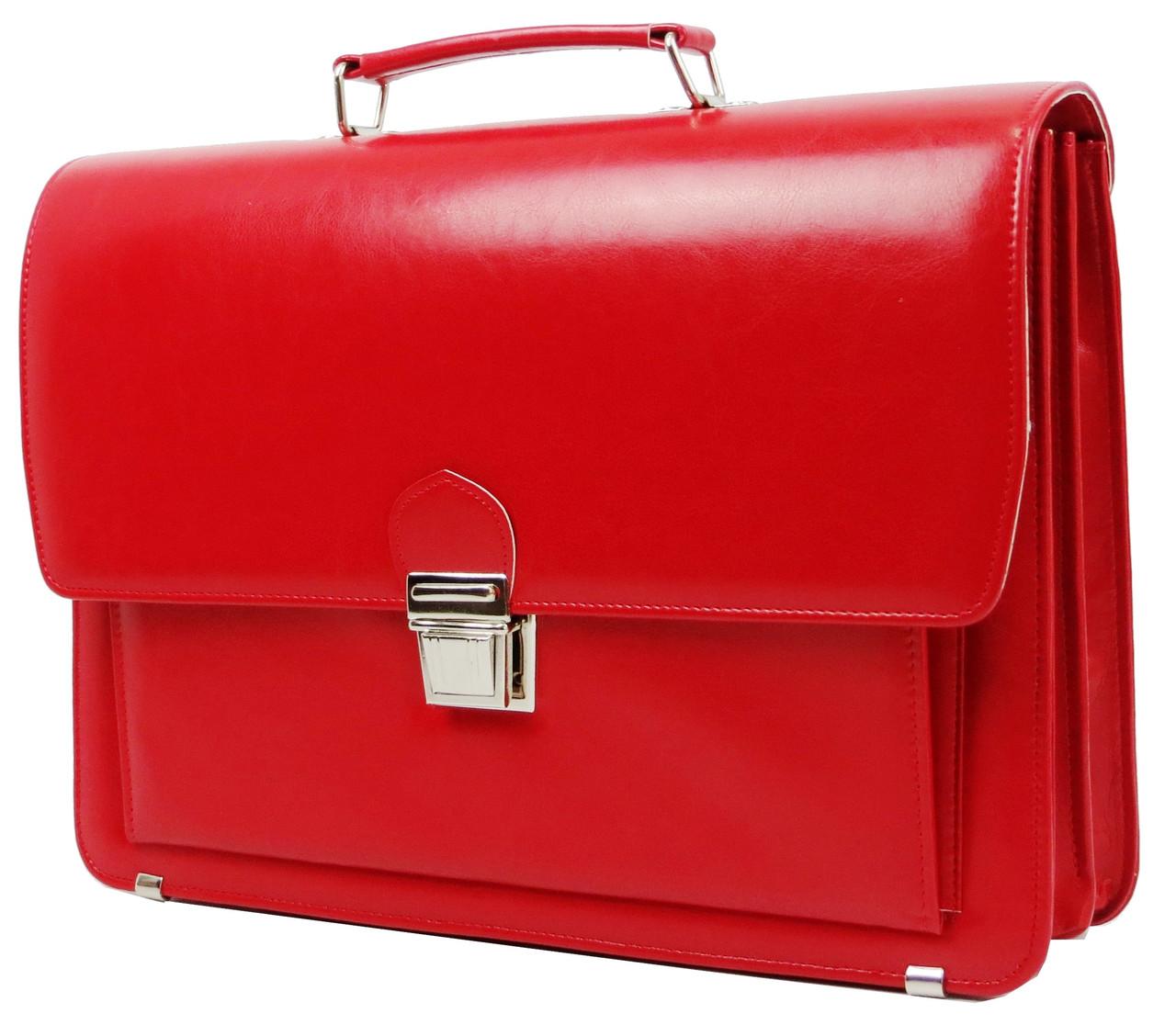 Женский портфель из искусственной кожи AMO Красный (SST09 red)