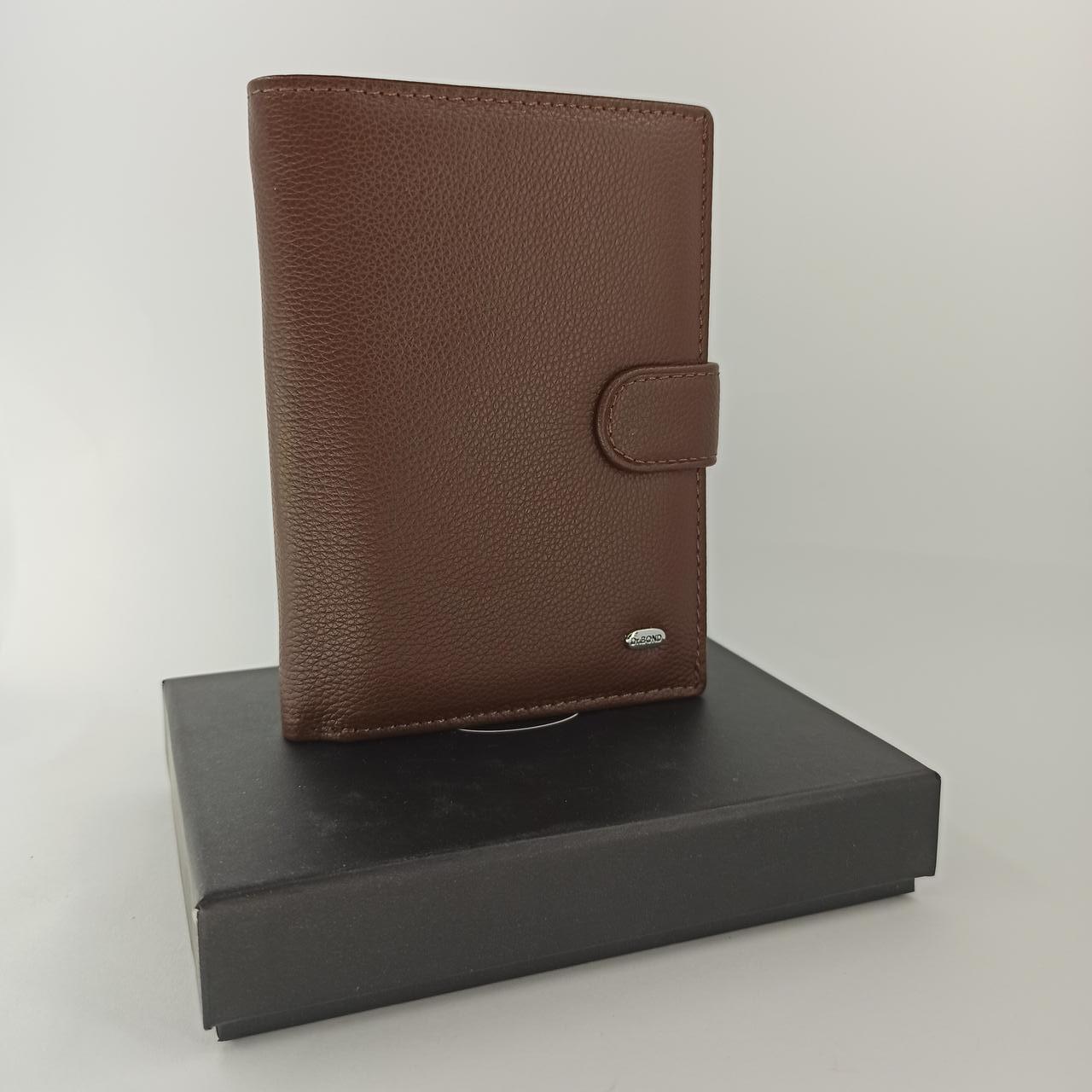 Кожаный мужской кошелек Dr. BOND M1 coffee