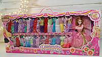 Кукла с аксессуарами, Кукла с нарядами, платья 40шт, в коробке, 80*34*6,5 см 1880-65