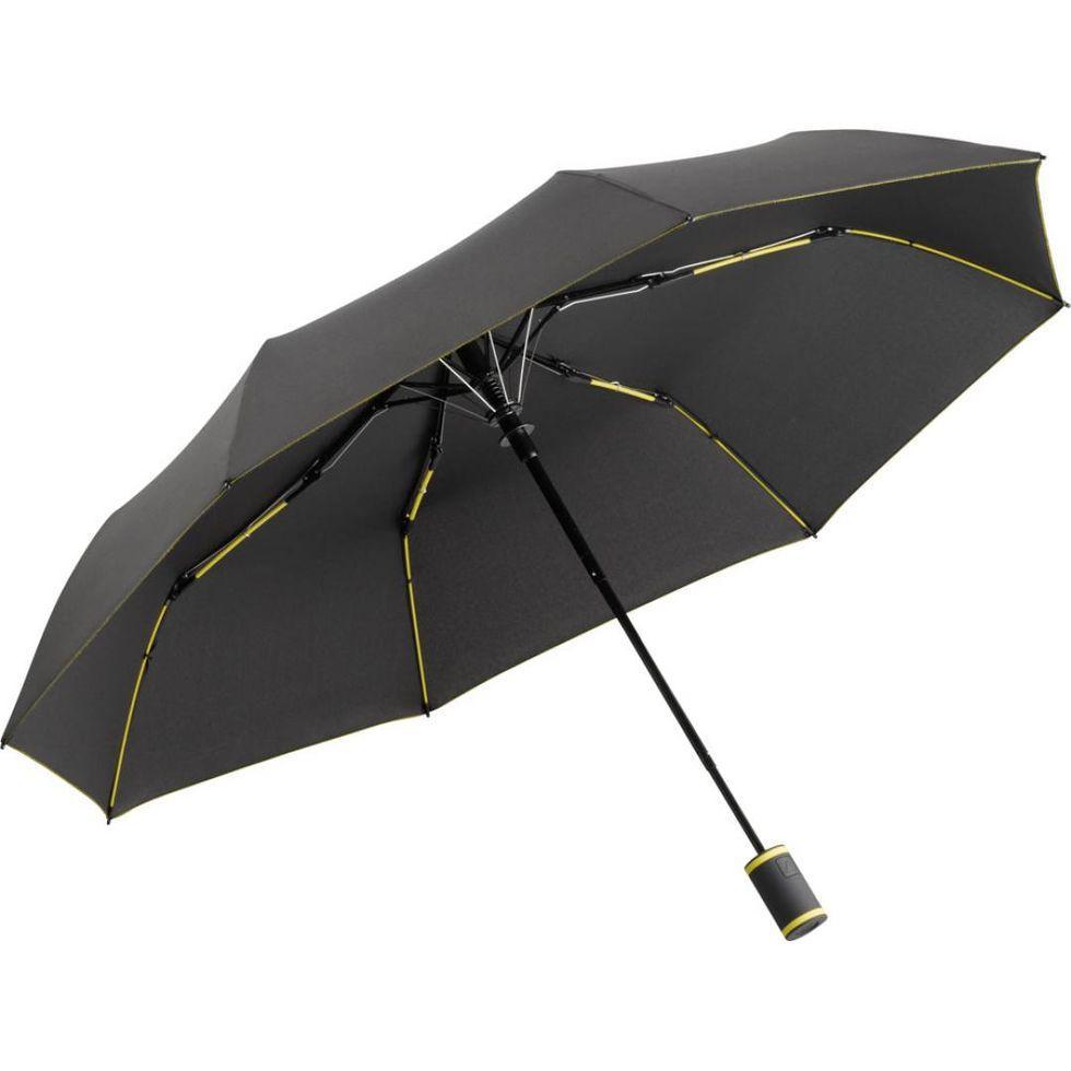 Зонт складаний Fare 5583 Антрацит з жовтим (1053)