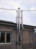 Дымоход: Водогрейка(сэндвич н/н d 135/215), котел(сэндвич н/н d 115/200), вентиляция(труба н d 140)