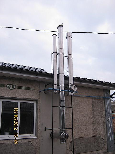 Один дымоход для водогрейки котла огнерус дымоходы