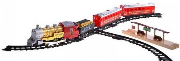 Железная дорога Мой 1-й поезд 0610, дым, свет, 282 см