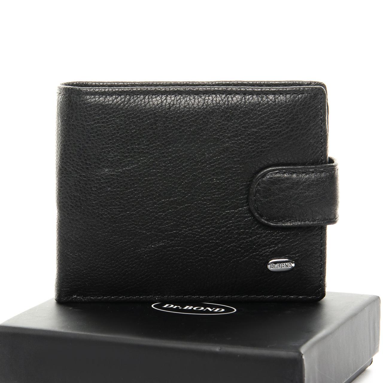Кожаный мужской кошелек Dr. BOND M14 black