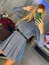 Короткий розкльошені сукні голограма з переливом (р. S, М) 71031866, фото 2