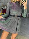 Короткий розкльошені сукні голограма з переливом (р. S, М) 71031866, фото 3