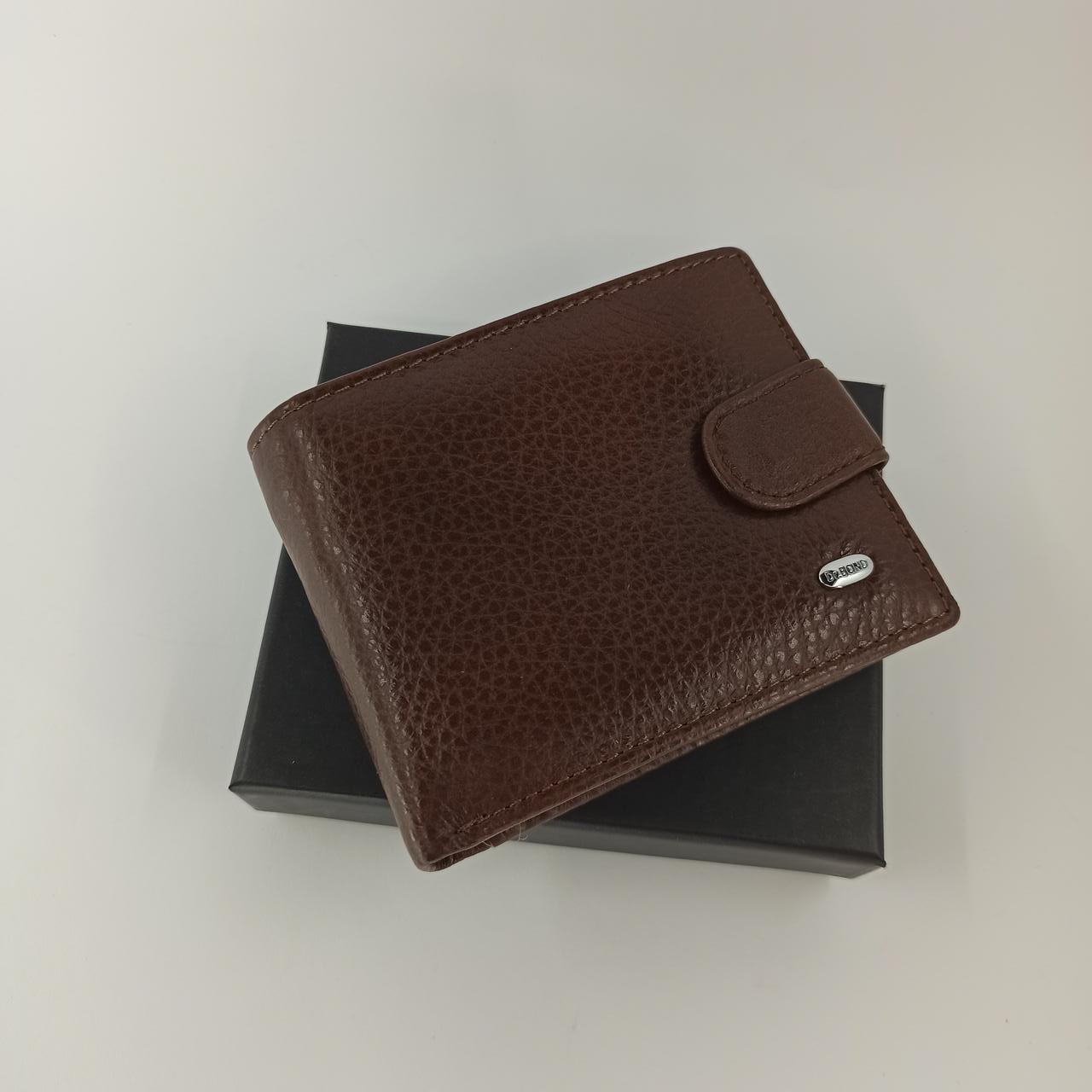 Кожаный мужской кошелек Dr. BOND M14 coffee
