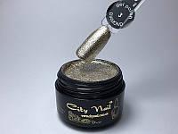 """Гель лак паста фольгированный плотный золотая фольга №3 ТМ """"CityNail"""" 5 мл"""