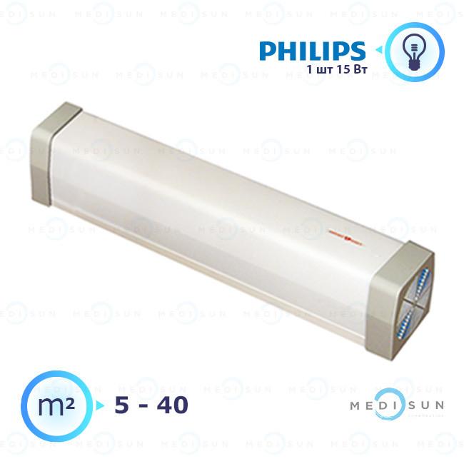 Облучатель рециркулятор медицинский рециркулятор воздуха бактерицидный Аэрэкс-стандарт 15 Завет, лампа Philips