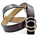 Женский кожаный ремень Le-Mon nwzh-30k-0055 Тёмно-коричневый, фото 2