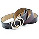 Женский кожаный ремень Le-Mon nwzh-30k-0055 Тёмно-коричневый, фото 3