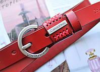 Женский узкий ремень Calvin Klein красный