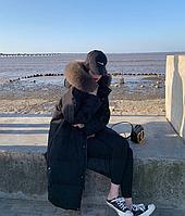 Женский стильный пуховик с капюшоном. Модель 6014, фото 3