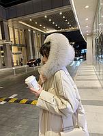 Женский стильный пуховик с капюшоном. Модель 6014, фото 4