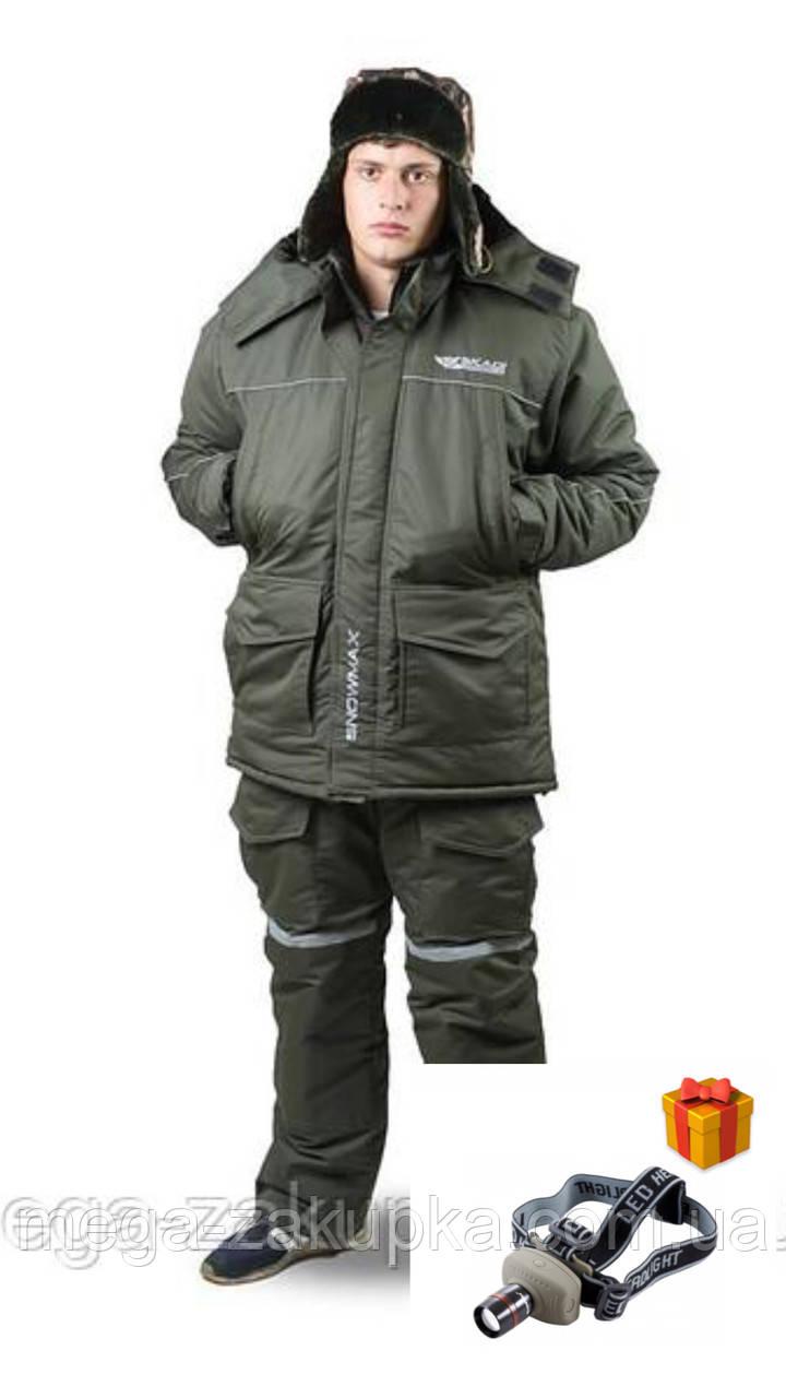 Зимовий костюм для риболовлі та полювання Snowmax Olive Новинка сезону! Теплий, непродуваємий, Всі розміри