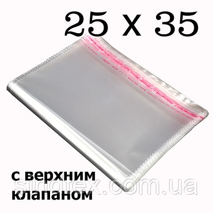 Упаковочные пакеты с верхним клапаном и липкой полосой 25х35 см (1000шт.) (ИР-0014), фото 2