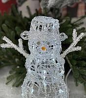 Светящаяся Фигура (LED) Новогодний Снеговик рождественские украшения для дома под елку на новый для детей.