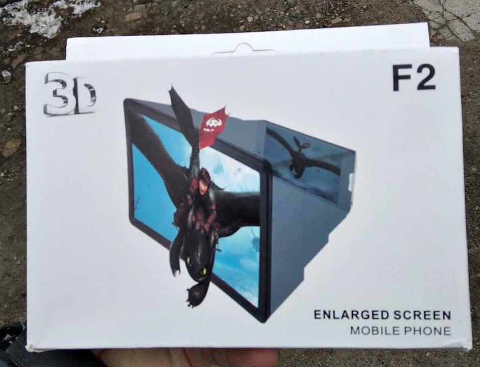 3D Подставка  -увеличитель экрана для смартфона F2