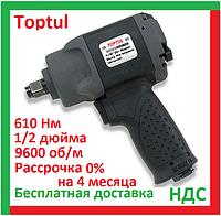 Toptul KAAC1645. Пневмогайковерт 1 2 дюйма, 610 Нм, для шиномонтажа, ударный, воздушный, пневмопистолет топтул