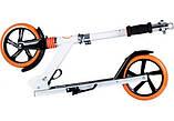 Самокат двухколесный Lionelo Luca White/Orange колеса PU 20 см Амортизатор, фото 4