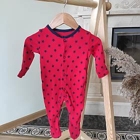 Хлопковый слип с ножками Gеоrgе  0-3м 56-62см. Красный