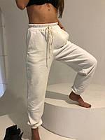 Женские спортивные брюки оверсайз турецкая трехнитка Светлые, фото 1