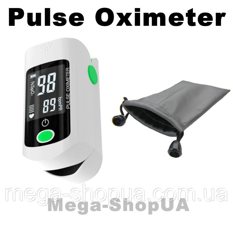 Пульсометр оксиметр на палец с чехлом Oximeter DR43MG. Пульсоксиметр. Измеритель пульса. Измеритель кислорода