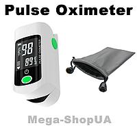 Пульсометр оксиметр на палец с чехлом Oximeter DR43MG. Пульсоксиметр. Измеритель пульса. Измеритель кислорода, фото 1