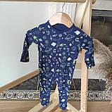 Хлопковый слип с ножками Gеоrgе  3-6м 62-68см, фото 3