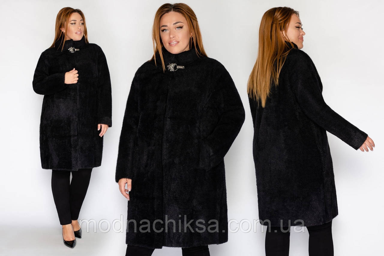 Удлинённое пальто из альпаки