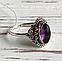 Серебряное кольцо 19 размера с аметистом, фото 2