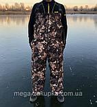 Зимний костюм для охоты и рыбалки Шишка зелёная, непродуваемый, тёплый и надежный, все размеры, фото 5