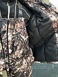 Зимний костюм для охоты и рыбалки Шишка зелёная, непродуваемый, тёплый и надежный, все размеры, фото 4