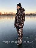 Зимний костюм для охоты и рыбалки Шишка зелёная, непродуваемый, тёплый и надежный, все размеры, фото 3