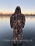 Зимний костюм для охоты и рыбалки Шишка зелёная, непродуваемый, тёплый и надежный, все размеры, фото 2